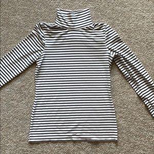 Black and White Striped Turtleneck-Zara